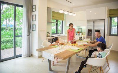 Phòng bếp hòa cùng thiên nhiên