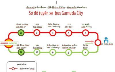 Xe BUS dự án Gamuda Gardens phục vụ cư dân miễn phí